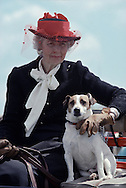 Winterthur Museum & Country Estate, Winterthur, Delaware, Point to Point Races, Lady & Dog