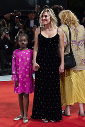 Celine Garrel, Valeria Bruni Tedeschi walk the red carpet ahead of Les Estivants (The Summer House) screening during the 75th Venice Film Festival at Sala Grande on September 5, 2018 in Venice, Italy. Photo by Marco Piovanotto/ABACAPRESS.COM