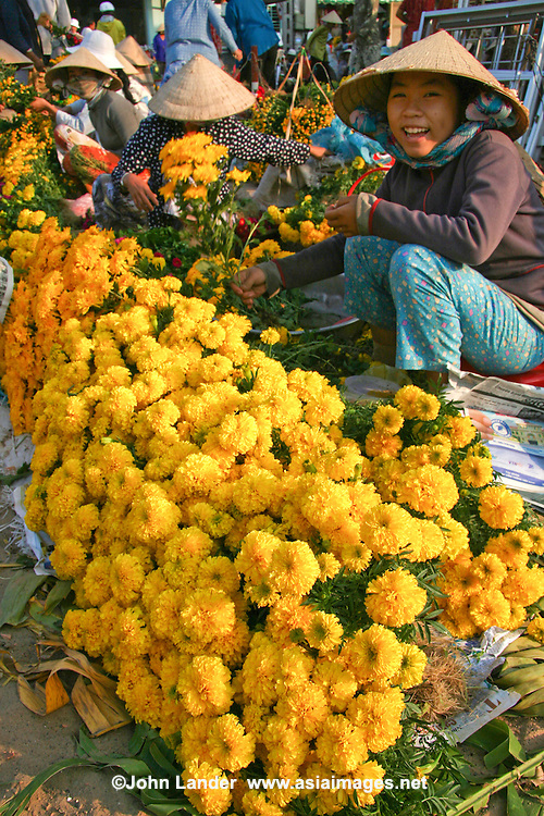 Marigolds at Mui Ne Market