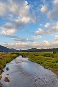 Carson River and Clouds at Dawn, Eldorado National Forest, Alpine County, California