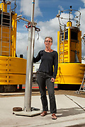 Margaret Yelland, a scientists at the National Oceanographic Centre in Southampton pictured on the docks and around the centre with equipment used for gathering data from the oceans. She is  particularly interested studying the relationship of  wave activity to global warming.