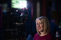 © Licensed to London News Pictures. 17/01/2020. Manchester, UK. Salford & Eccles MP REBECCA LONG-BAILEY speaks to media ahead of launching her campaign to succeed Jeremy Corbyn in the race for Labour Party leadership , at an event in the Museum of Science and Industry in Manchester City Centre . Photo credit: Joel Goodman/LNP