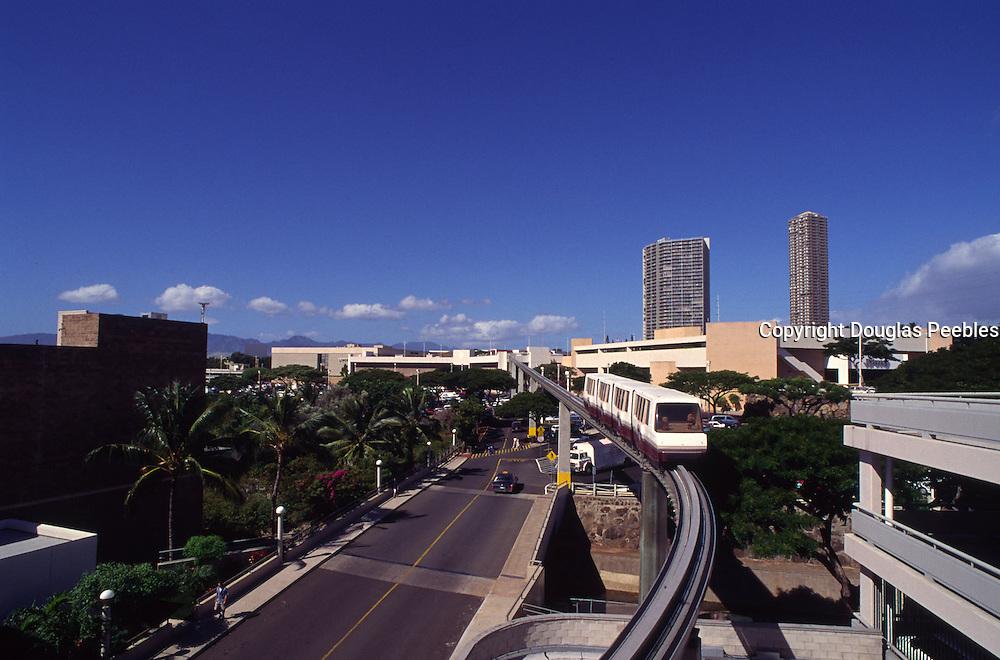 Monorail, Pearlridge Center, Pearl City, Oahu, Hawaii<br />