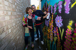 Moira Neal - The Graffiti Granny - is a grandmother and prizewinning quilter who has become involved in a graffiti project in Histon, Cambridgeshire, thanks to family friend and graffiti artist mentor Kilo. February 28 2018.