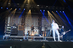 James Allan, lead singer of Glasvegas on the main stage..Rockness, Sunday, 12th June 2011..RockNess 2011, the annual music festival which takes place in Scotland at Clune Farm, Dores, on the banks of Loch Ness near Inverness..Pic ©2011 Michael Schofield. All Rights Reserved..
