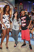 7 July 2010- New York, NY- Venus Williams, Rosci, Terrence J at  the BET segment taping of ' Come to Win ' with Tennis Icon Venus Williams at held at BET Studios as she begins her promotion of her new book ' Come to Win ' published by HarperCollins on July 7, 2010 in New York City.
