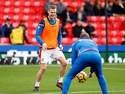 Stoke City's Ryan Shawcross during warm-up