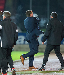 St Johnstone manager Tommy Wright after Steven MacLean scored their second goal. St Johnstone 2 v 4 Ross County. SPFL Ladbrokes Premiership game played 19/11/2016 at St Johnstone's home ground, McDiarmid Park.