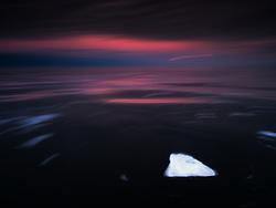 Drifting ice in Svalbard