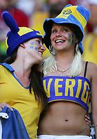 Fans Schweden , fan , illustrasjon<br /> Fussball WM 2006 Trinidad und Tobago - Schweden <br /> Sverige<br /> <br /> Norway only