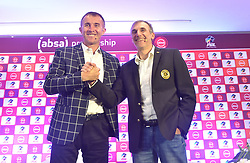 South Africa: Johannesburg: Orlando Pirates coach Milutin Sredojevic and Kaizer Chiefs coach Giovanni Solinas, poses photographs at the PLS officers in Parktown, after addressing members of the media on the much anticipated Soweto Derby on Saturday when Orlando Pirates host rivals Kaizer Chiefs for Absa Premiership match at FNB Stadium.<br />Picture: Itumeleng English/African News Agency (ANA)<br />998<br />24.10.2018<br />Picture: Itumeleng English/African News Agency (ANA)