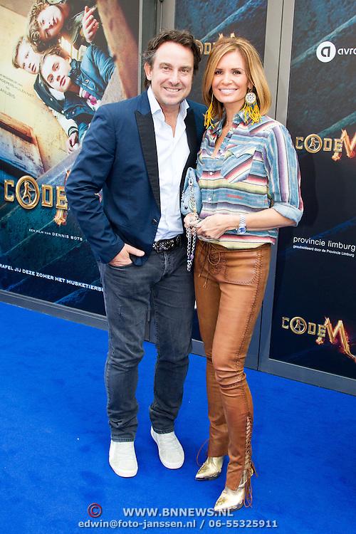NLD/Amsterdam/20150620- Filmpremiere Code M, Marco Borsato en partner Leontine Borsato