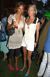 Left to right, ROSE HANBURY and the HON.SOPHIA HESKETH at the Quintessentially Summer Party held at Debenham House, 8 Addison Road, London W14 on 15th June 2006.<br /><br />NON EXCLUSIVE - WORLD RIGHTS