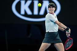 January 17, 2019 - Melbourne, VIC, U.S. - MELBOURNE, VIC - JANUARY 17: EUGENIE BOUCHARD (CAN) during day four match of the 2019 Australian Open on January 17, 2019 at Melbourne Park Tennis Centre Melbourne, Australia (Photo by Chaz Niell/Icon Sportswire) (Credit Image: © Chaz Niell/Icon SMI via ZUMA Press)