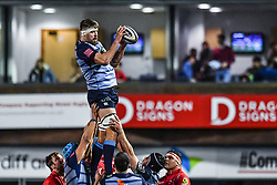 Cardiff Blues' James Down claims the lineout - Mandatory by-line: Craig Thomas/Replay images - 31/12/2017 - RUGBY - Cardiff Arms Park - Cardiff , Wales - Blues v Scarlets - Guinness Pro 14