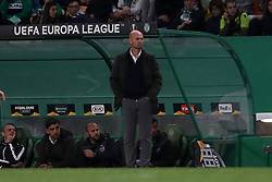 February 14, 2019 - Lisbon, Portugal - Sporting's head coach Marcel Keizer from Netherlands  during the UEFA Europa League Round of 32 First Leg football match Sporting CP vs Villarreal CF at Alvalade stadium in Lisbon, Portugal on February 14, 2019. (Credit Image: © Pedro Fiuza/NurPhoto via ZUMA Press)