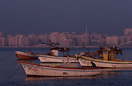 Boats near Cityscape