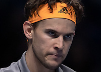 Tennis - 2019 Nitto ATP Finals at The O2 - Day Eight<br /> <br /> Singles Final : Stefanos Tsitsipas (Greece) Vs. Dominic Thiem (Austria)<br /> <br /> A serious play face on Dominic Thiem (Austria) <br /> <br /> COLORSPORT/DANIEL BEARHAM