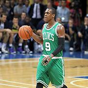 Boston Celtics's Rajon Rondo during their NBA Europe Live 2012 The four-game tour tips match Fenerbahce Ulker between Boston Celtics at Fenerbahce Ulker Sports Arena in Istanbul, Turkey, Friday, October 05, 2012. Photo by TURKPIX