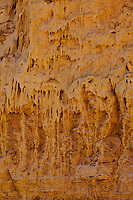 Dried mud dripping down the canyon wall near the Muddy Creek in the San Rafael Swell