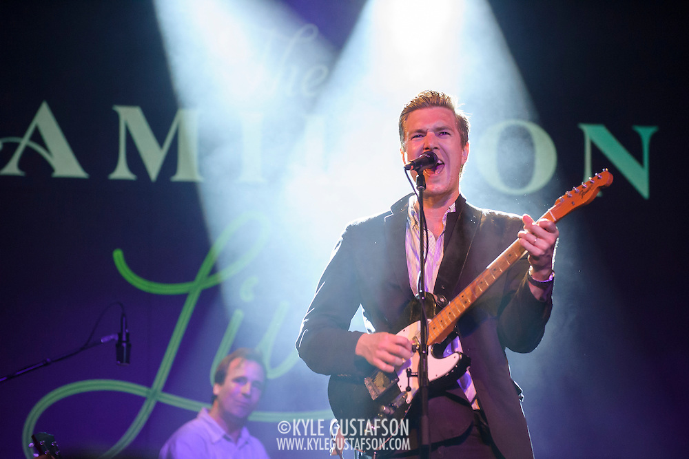 """WASHINGTON, DC - July 13th, 2014 - Drummer Hugh McIntosh (left) and Hamilton Leithauser perform at The Hamilton in Washington, D.C. Leithauser, a D.C. native, released his first solo album this year while his former band, The Walkmen, are on a self-proclaimed """"extreme hiatus."""" (Photo by Kyle Gustafson / For The Washington Post)"""