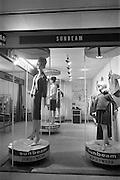 24/04/1964<br /> 04/24/1964<br /> 24 April 1964 <br /> Irish Export Fashion Fair at the Intercontinental Hotel, Dublin. Sunbeam Wolsey Ltd. (Millfield, Co. Cork) display stand at the fair.
