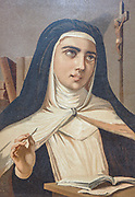 Teresa of Avila, born Teresa Sanchez de Cepeda y Ahumada, also called Saint Teresa of Jesus (28 March 1515 – 15 October 1582), was a Spanish noblewoman who felt called to convent life in the Catholic Church. A Carmelite nun, prominent Spanish mystic, religious reformer, author, theologian of the contemplative life and of mental prayer, From the book La ciencia y sus hombres : vidas de los sabios ilustres desde la antigüedad hasta el siglo XIX T. 3  [Science and its men: lives of the illustrious sages from antiquity to the 19th century Vol 3] By by Figuier, Louis, (1819-1894); Casabó y Pagés, Pelegrín, n. 1831 Published in Barcelona by D. Jaime Seix, editor , 1879 (Imprenta de Baseda y Giró)