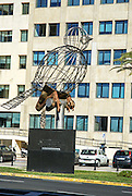 Cadiz, Andalusia, Spain steel bird statue