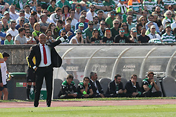 May 20, 2018 - Lisbon, Portugal - Aves' head coach Jose Mota gestures during the Portugal Cup Final football match CD Aves vs Sporting CP at the Jamor stadium in Oeiras, outskirts of Lisbon, on May 20, 2015. (Credit Image: © Pedro Fiuza/NurPhoto via ZUMA Press)