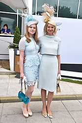 The Countess of Derby and her daughter Lady Henrietta Stanley at The Investec Derby, Epsom Racecourse, Epsom, Surrey, England. 02 June 2018.