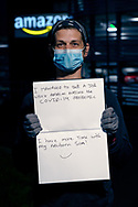 Outside Amazon Fulfillment Center Man 3 Near Bolton. Worked at Amazon for 4 weeks, from Bolton. Previously was travelling the world for 6 months.