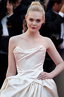 Actress Elle Fanning at the opening ceremony and Ismael's Ghosts (Les Fantômes D'ismaël) gala screening,  at the 70th Cannes Film Festival Wednesday May 17th 2017, Cannes, France. Photo credit: Doreen Kennedy