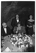 Malcolm Forbes Baroness 'Tita', Baron Heinrich von Thyssen, and Baroness Francesca Thyssenat Faberge exhibition 1987 ONE TIME USE ONLY - DO NOT ARCHIVE  © Copyright Photograph by Dafydd Jones 66 Stockwell Park Rd. London SW9 0DA Tel 020 7733 0108 www.dafjones.com