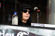 Motley Crue press conference at the Bamboozle Music Festival. Meadowlands Sports Complex, East Rutherford, NJ.  April 30, 2011. Copyright © 2011 Chris Owyoung.