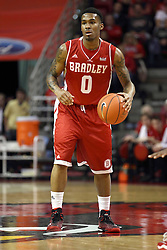 17 January 2015:   Ka'Darryl Bell during an NCAA MVC (Missouri Valley Conference men's basketball game between the Bradley Braves and the Illinois State Redbirds at Redbird Arena in Normal Illinois