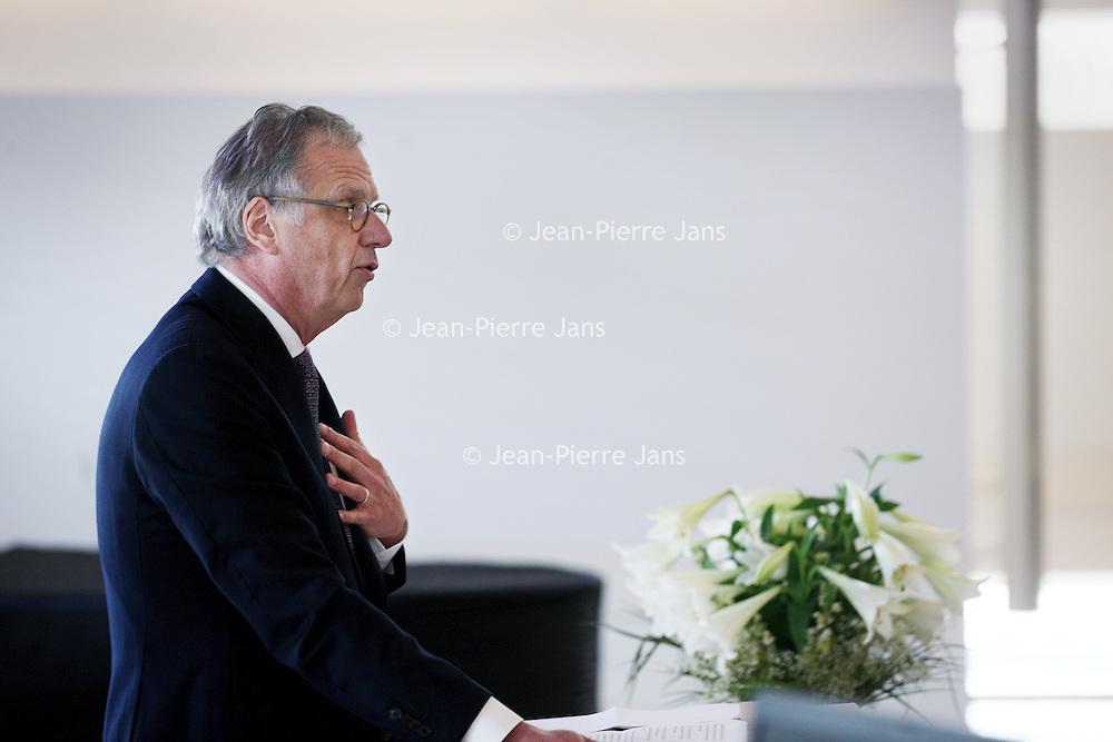 Nederland, Hoofddorp , 6 mei 2014.<br /> Peter van Barneveld, voorzitter Raad van Bestuur en Yvonne Wilders, Raad van Bestuur, tijdens de introductie en kennismaking van Peter van Barneveld.<br /> Foto:Jean-Pierre Jans