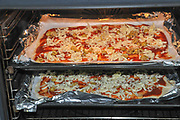 Home made Pizza in the oven