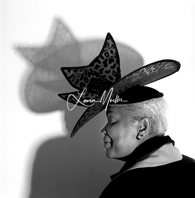 1/30/01.  Ella Scarborough wears one of her church hats.  L.MUELLER/The Charlotte Observer