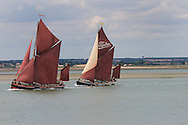 Thames sailing barges racing on the river Blackwater in Essex, England