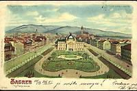 Zagreb : Trg Franje Josipa. <br /> <br /> ImpresumZagreb : Papirnica J. i S. Fürst, [1899].<br /> Materijalni opis1 razglednica : tisak ; 9 x 14 cm.<br /> NakladnikPapirnica J. i S. Fürst<br /> Vrstavizualna građa • razglednice<br /> ZbirkaGrafička zbirka NSK • Zbirka razglednica<br /> ProjektPozdrav iz Hrvatske<br /> Formatimage/jpeg<br /> PredmetZagreb –– Trg kralja Tomislava<br /> Umjetnički paviljon (Zagreb)<br /> SignaturaRZG-TOM-10<br /> NapomenaRazglednica je putovala 1899. godine. • Poleđina razglednice namijenjena je samo za adresu. • U gornjem desnom kutu otisnuto: METEOR D. R. G. M. 88690, što je oznaka za poseban tip transparentne razglednice s dvostrukim motivom (dnevni i večernji prikaz). Sama razglednica i poleđina tiskane su odvojeno te naknadno spojene. Gornji lijevi kut otisnuto: Bitte gegen das Licht zu halten (Molimo okrenuti nasuprot svjetlu).<br /> PravaJavno dobro<br /> Identifikatori000952738<br /> NBN.HRNBN: urn:nbn:hr:238:833142 <br /> <br /> Izvor: Digitalne zbirke Nacionalne i sveučilišne knjižnice u Zagrebu