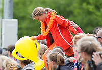 HAREN - Hockey -  Supporters  Groningen (GHHC) wint de promotiewedstrijd naar de hoofdklasse van Were Di (1-0). COPYRIGHT KOEN SUYK