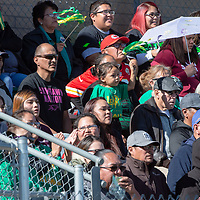 Skyhawks fans watch as their home team take on the Mavericks Saturday in Newcomb. Newcomb defeated Lordsburg 56-20.