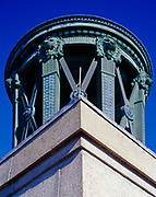 Eleven-ton bronze urn capping 352-foot Perry's Victory and International Peace Memorial, South Bass Island, Put-in-Bay, Lake Erie, Ohio.