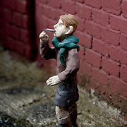 Statuette of man smoking