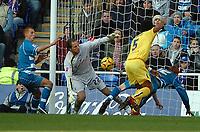 Photo: Ed Godden.<br />Reading v Preston North End. Coca Cola Championship. 25/02/2006. Preston keeper, Carlo Nash drops the ball, but is cleared.
