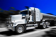 Tanker truck on the Great Western Highway from Sydney to Adelaide, New South Wales, Australia