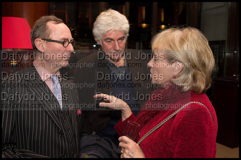 A.N. WILSON; DAVID OGILVY, Ralph Lauren host launch party for Nicky Haslam's book ' A Designer's Life' published by Jacqui Small. Ralph Lauren, 1 Bond St. London. 19 November 2014