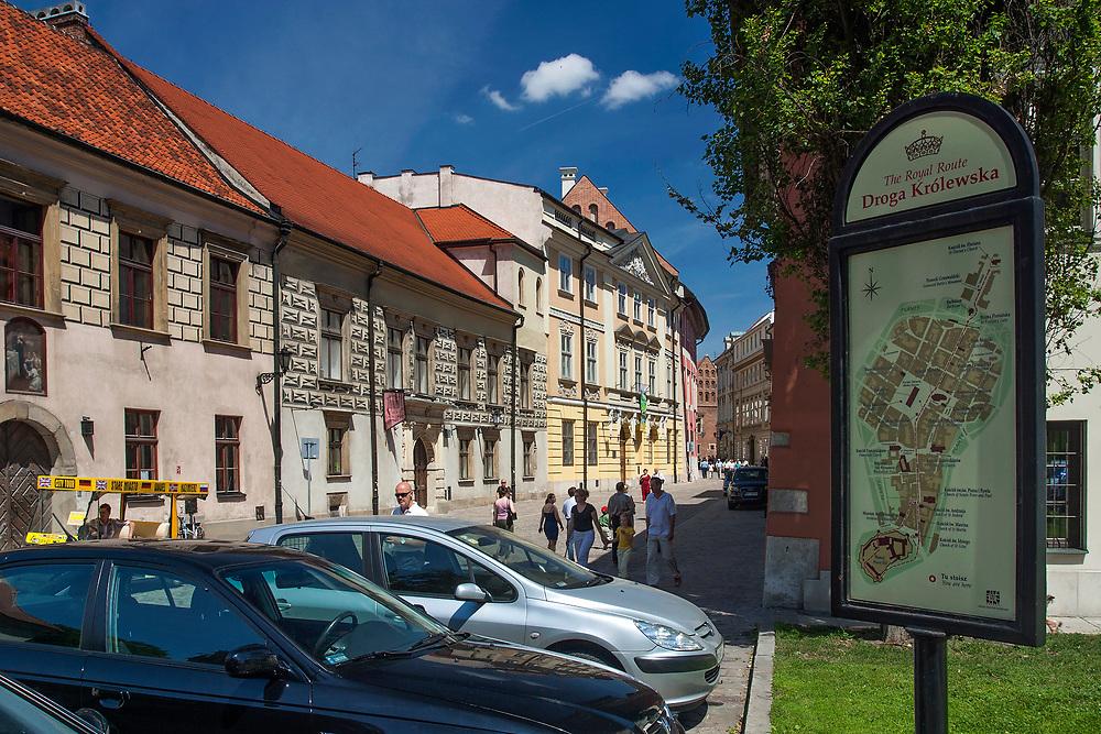 Ulica Kanonicza w Krakowie, Polska<br /> Kanonicza Street in Cracow, Poland