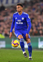 Cardiff City's Josh Murphy in action during the Premier League match at the Cardiff City Stadium.