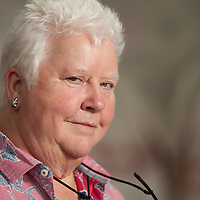 Val McDermid at the Edinburgh International Book Festival 2014. 19th August 2014<br /> <br /> Picture by Russell G Sneddon/Writer Pictures